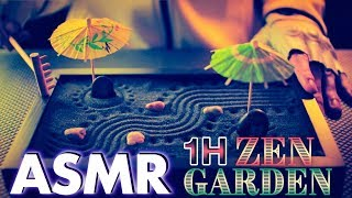 [ASMR] 1 Hour Sleep ZEN GARDEN (Sand, Crinkle, Brushing, Tapping, Cup Sounds) - NO TALKING