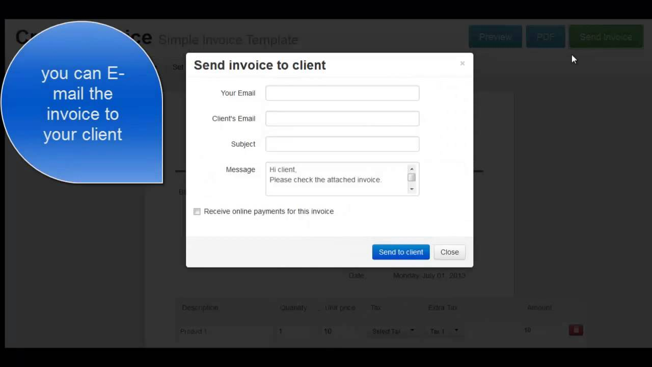 quick invoices free online invoices service