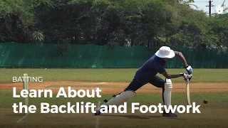 Watch and learn the importance of the backlift and footwork in a ba...