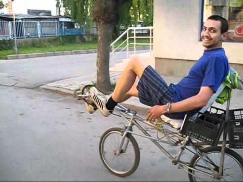 Diy Recumbent Bike Made In Sevlievo Bulgaria Riding Youtube