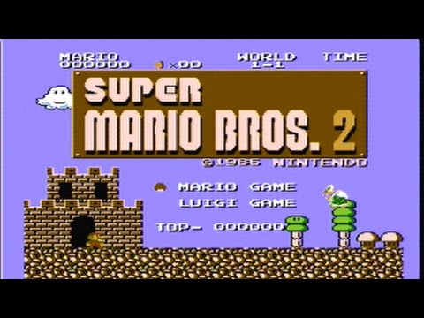 Super Mario Bros 2 The Lost Levels Actual Nes Capture Real Time