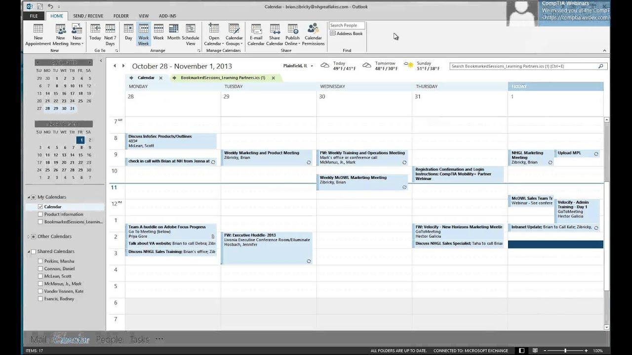 Microsoft Outlook Calendar - Tips and Tricks
