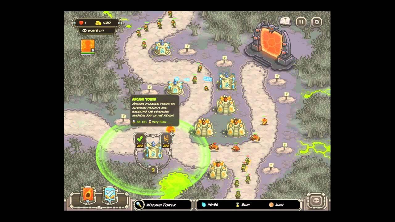 Kingdom Rush Rotten Forest Iron Challenge Youtube