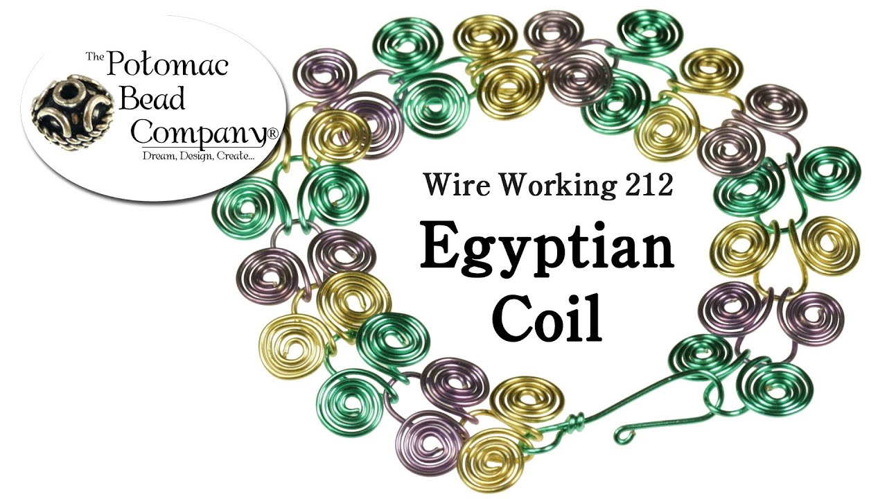 How to Make Wire Egyptian Coil Jewelry (Redone) - YouTube