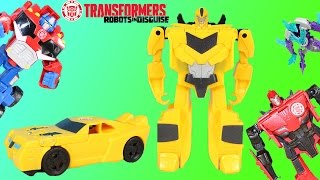 Transformers Robots in Disguise Bumblebee helps Strongarm, Sideswipe & Grimlock defeat Airazor!