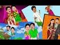 wedding couples cartoon digital painting