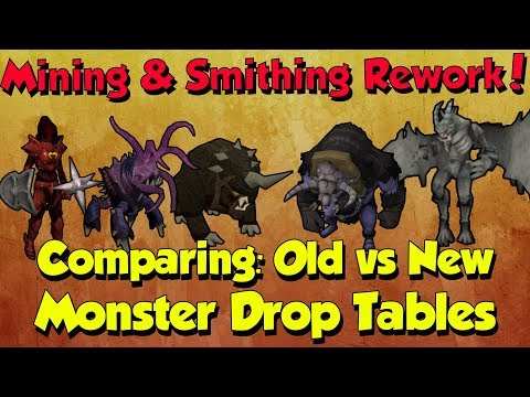 New Monster Drop Tables! Are They Still Good? [Runescape 3] Mining & Smithing Rework!