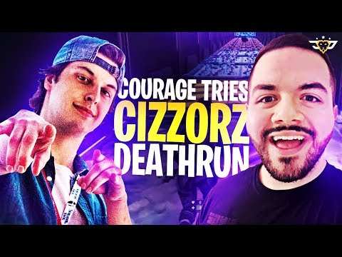 COURAGE TRIES CIZZORZ DEATHRUN! ***IMPOSSIBLE*** (Fortnite: Battle Royale)