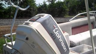 16' Deck Boat, Motor And Trailer For Sale