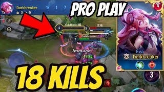KEERA 18 KILLS MUST BAN HERO - EVA PRO GAMEPLAY | AoV | 傳說對決 | RoV | Liên Quân Mobile