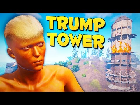 DESTROYING TRUMP TOWER - Rust Funny Moments