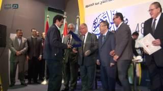 مصر العربية | أمين حداد أفضل شاعر عامية بمعرض الكتاب