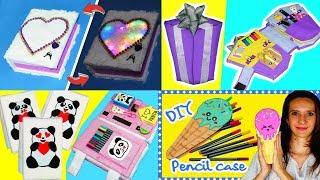 7 DIY Crafts - How to make pencil case + organizer DIY - Organizer + pencil case