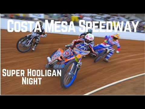 Speedway Racing At Costa Mesa Speedway Super Hooligan Night 2017