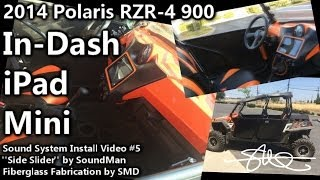 iPad Mini In Dash - Polaris RZR-4 900 SoundMan Side-Slider Sound System Install Video 5