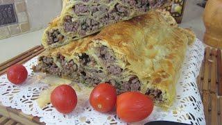 Рецепт- Мясной пирог