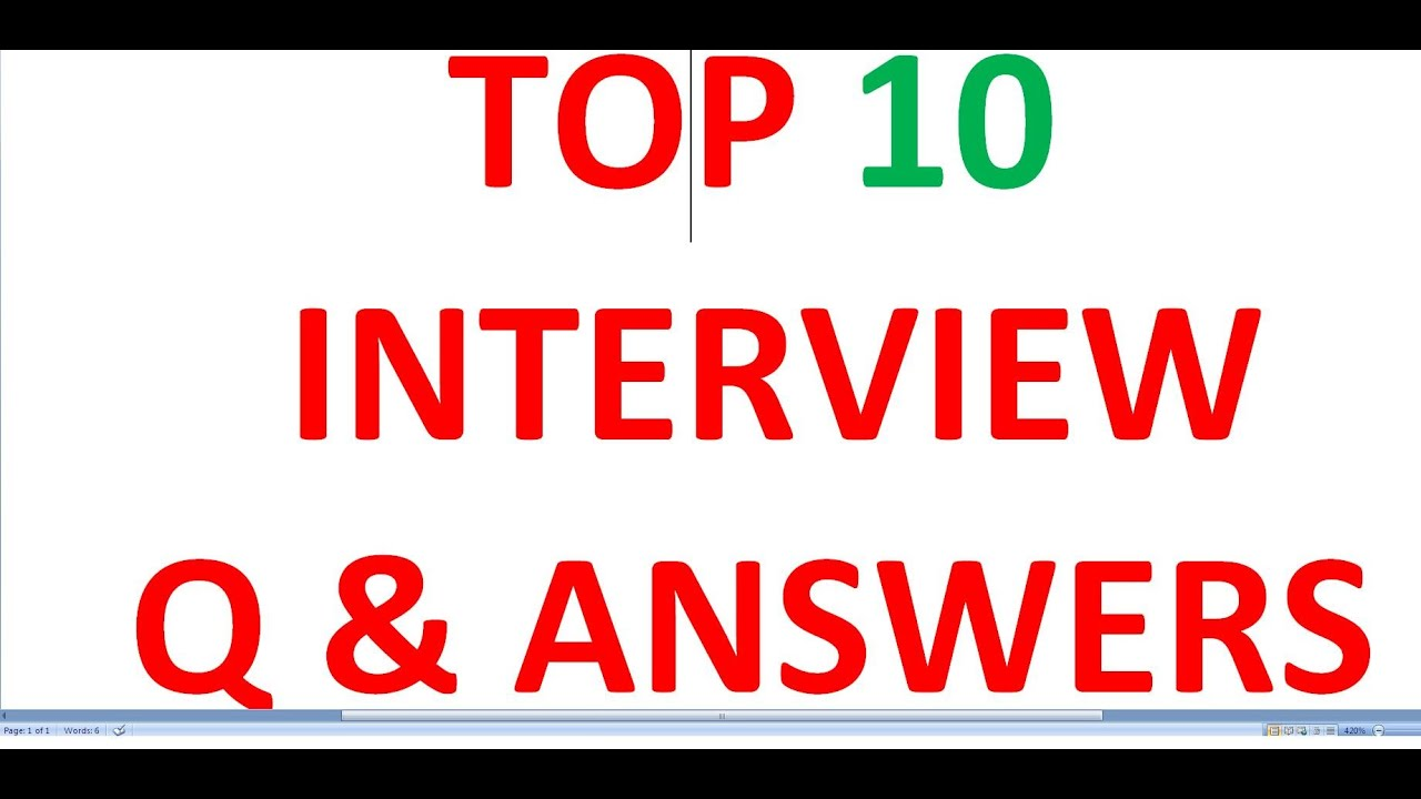 how to answer job interview questions youtube