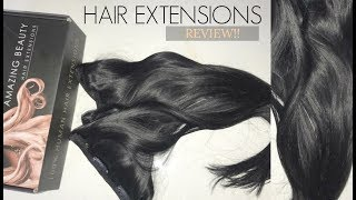 Watch me apply clip in hair extensions!! Feat. AMAZING BEAUTY HAIR EXTENSIONS