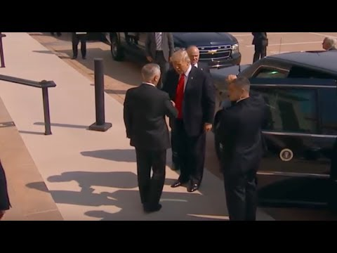 NOBODY SAW THE SECRET MEETING TRUMP HAD WITH MATTIS TODAY THIS CHANGES EVERYTHING!