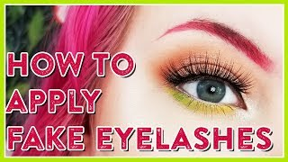 HOW TO APPLY FALSE LASHES WITH JUST YOUR FINGERS