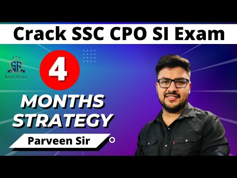 SSC CPO 2017-4 MONTHS PLAN & BOOKLIST