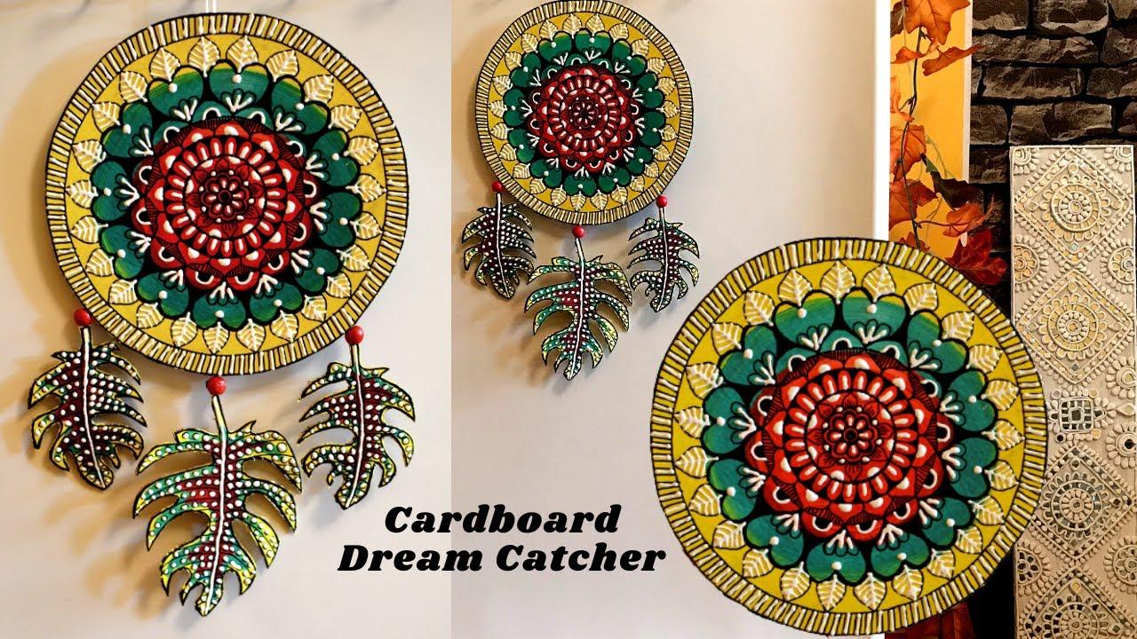 Cardboard Mandala Dreamcatcher | Cardboard Craft | Home Decor with Cardboard | Best Out of Waste