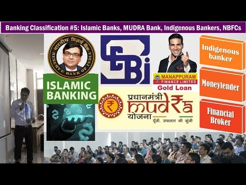 Banking Classification #5: Islamic Banking, Indigenous Bankers, MUDRA Bank, NBFCs & Their Regulators
