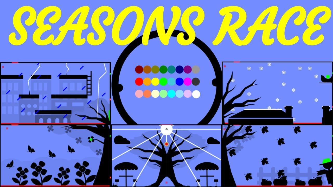 24 Marble Race EP. 19: Seasons Race (by Algodoo)