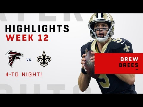 Drew Brees Serves Up 4 TDs to 4 Different Players!