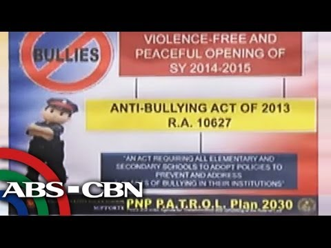 anti bullying act of 2012 #etails of the anti%bullying policies should be conspicuously posted in school websites and school walls# )a4ayon said 5nder the bill e0isting schools shall submit their anti%bullying policies to the epartment of ducation within si0 months upon effectivity of the law.