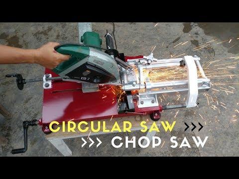 Convert CIRCULAR SAW to Steel Cutting CHOP SAW Machine
