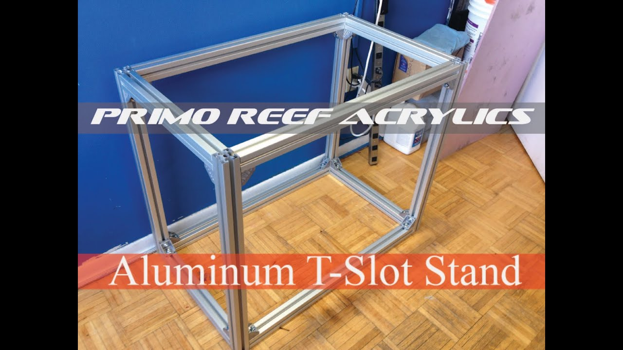aluminum t slot stand 36x22x30 youtube