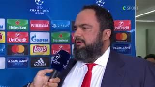 Δηλώσεις κ. Βαγγέλη Μαρινάκη on camera / Mr. Evangelos Marinakis' statement on camera (Cosmote TV)