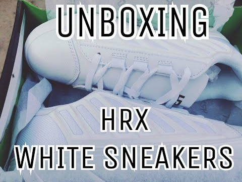 Unboxing hrx sneakers white