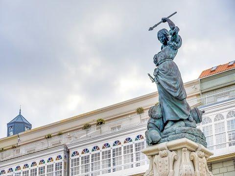 María Pita Square, A Coruña, Galicia, Spain, Europe