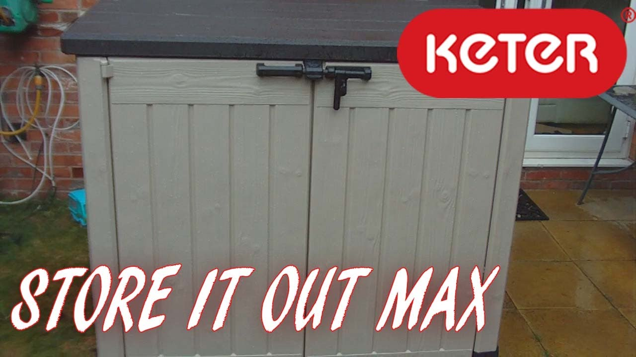 keter store it out max garden storage box 1200l youtube. Black Bedroom Furniture Sets. Home Design Ideas