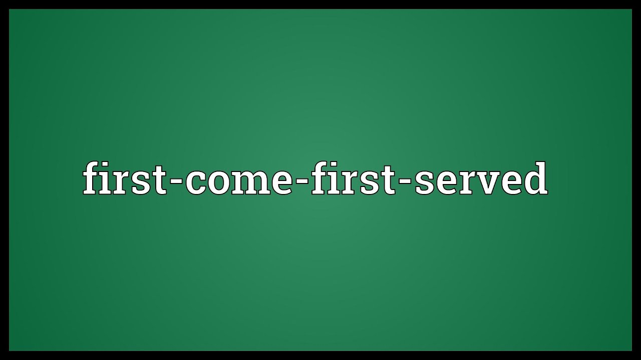simulation of first come first served First in first out also called first-come, first-served (fcfs), [18] this principle states that customers are served one at a time and that the customer that has been waiting the longest is served first.
