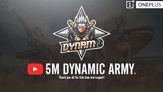 PUBG MOBILE LIVE WITH DYNAMO | GOING TAIWAN FOR PMSC TODAY | 5 MILLION YOUTUBE FAMILY