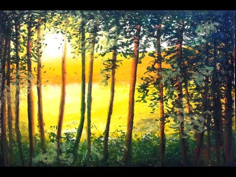 Sunshine – Oil Pastel Painting Lesson