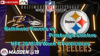 Baltimore Ravens vs. Pittsburgh Steelers | NFL 2018-19 Week 4 | Predictions Madden NFL 19