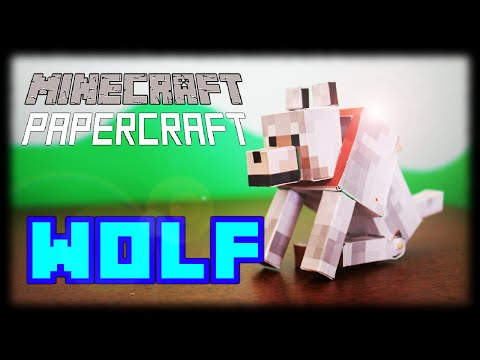 How to make a Minecraft Papercraft Bendable Wolf (sits down)