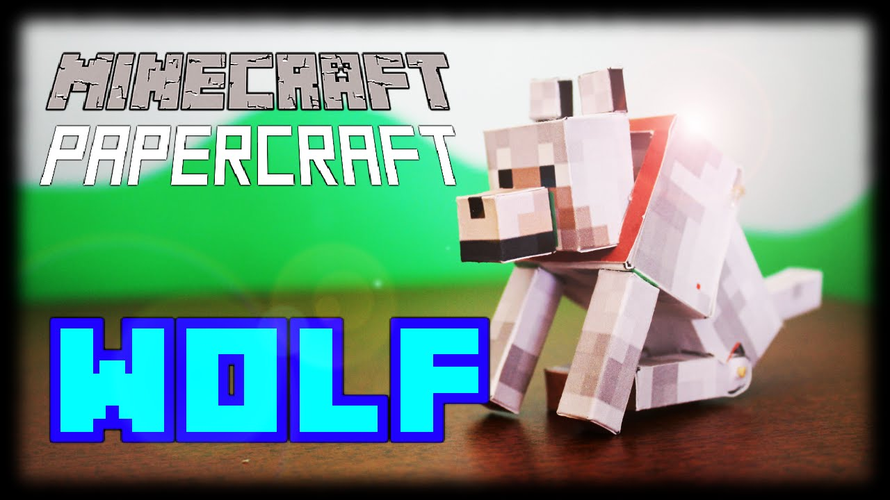 Papercraft How to make a Minecraft Papercraft Bendable Wolf (sits down)