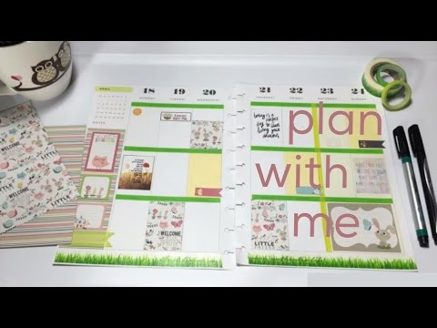 PLAN WITH ME | THE HAPPY PLANNER | SPRING THEME