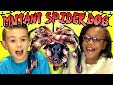 KIDS REACT TO MUTANT SPIDER DOG