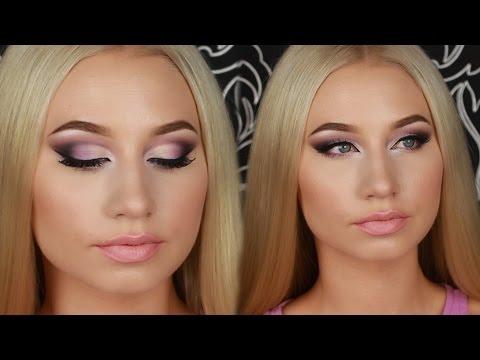 Эффектный Праздничный Вечерний Макияж 💜 Dramatic Evening Makeup Tutorial