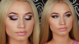 Эффектный Праздничный Вечерний Макияж 💜 Dramatic Evening Makeup Tutorial(Мои дорогие, всем привет)) Этот эффектный вечерний макияж вы могли видеть в моем первом видео-влоге. Мне..., 2016-10-12T05:41:09.000Z)