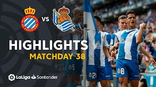Highlights RCD Espanyol vs Real Sociedad (2-0)