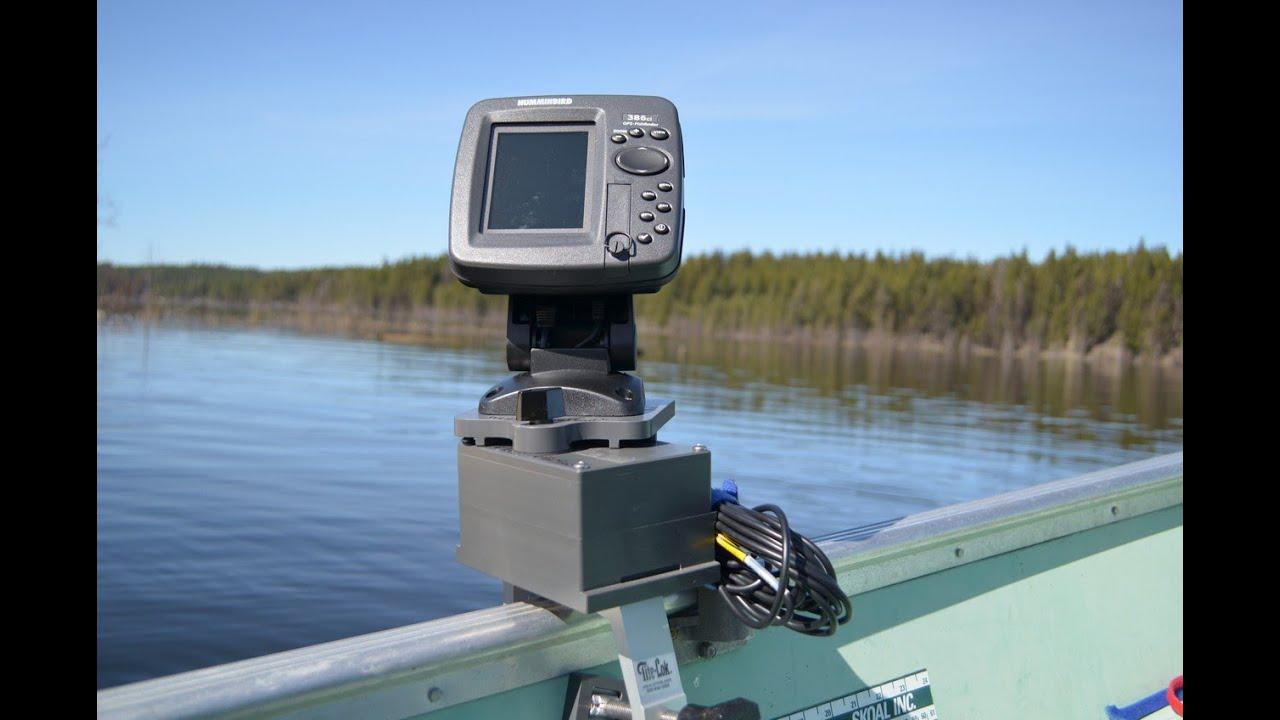 Fish finder mounts for Float tube fish finder