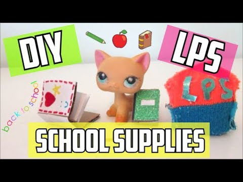 DIY LPS School Supplies!