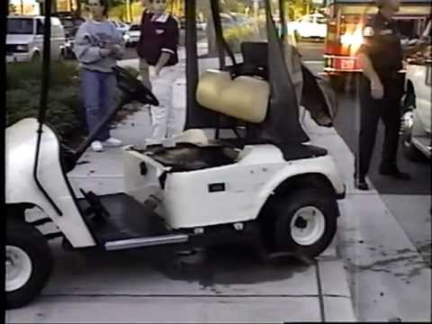 A golf cart hit by car, on Beacon Hill, in Seattle, Washington ... Electric Golf Carts Seattle on electric 4 wheelers, electric deer cart, electric push cart, ezgo carts, luxury carts,